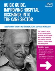 CHS Healthcare highlighted in NHS England guide to improving hospital discharge