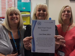 "Award for CHS team for Best Fast Track Support that is ""a small nugget of brilliance"" co-ordinating end-of-life care"