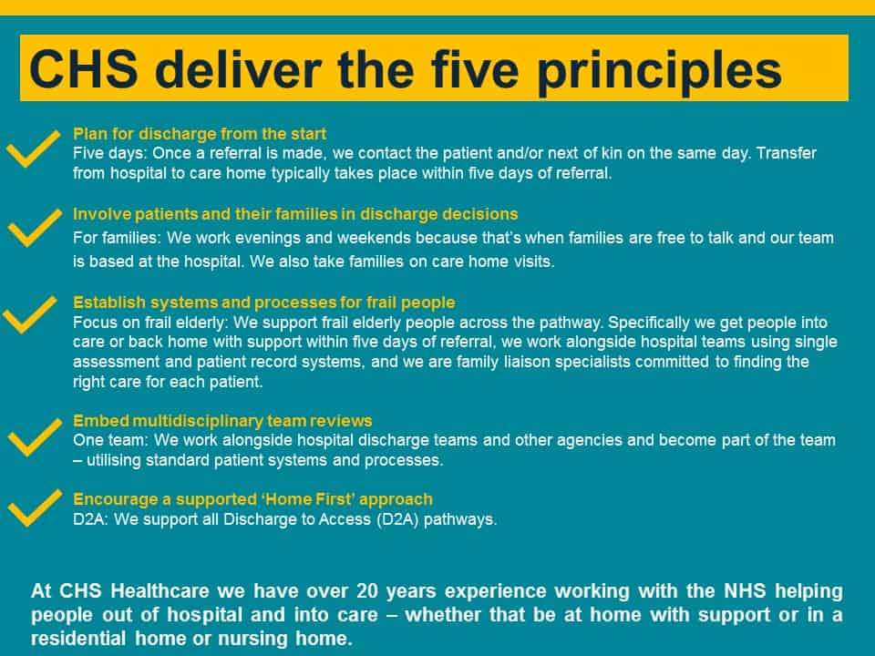 CHS deliver the five principles