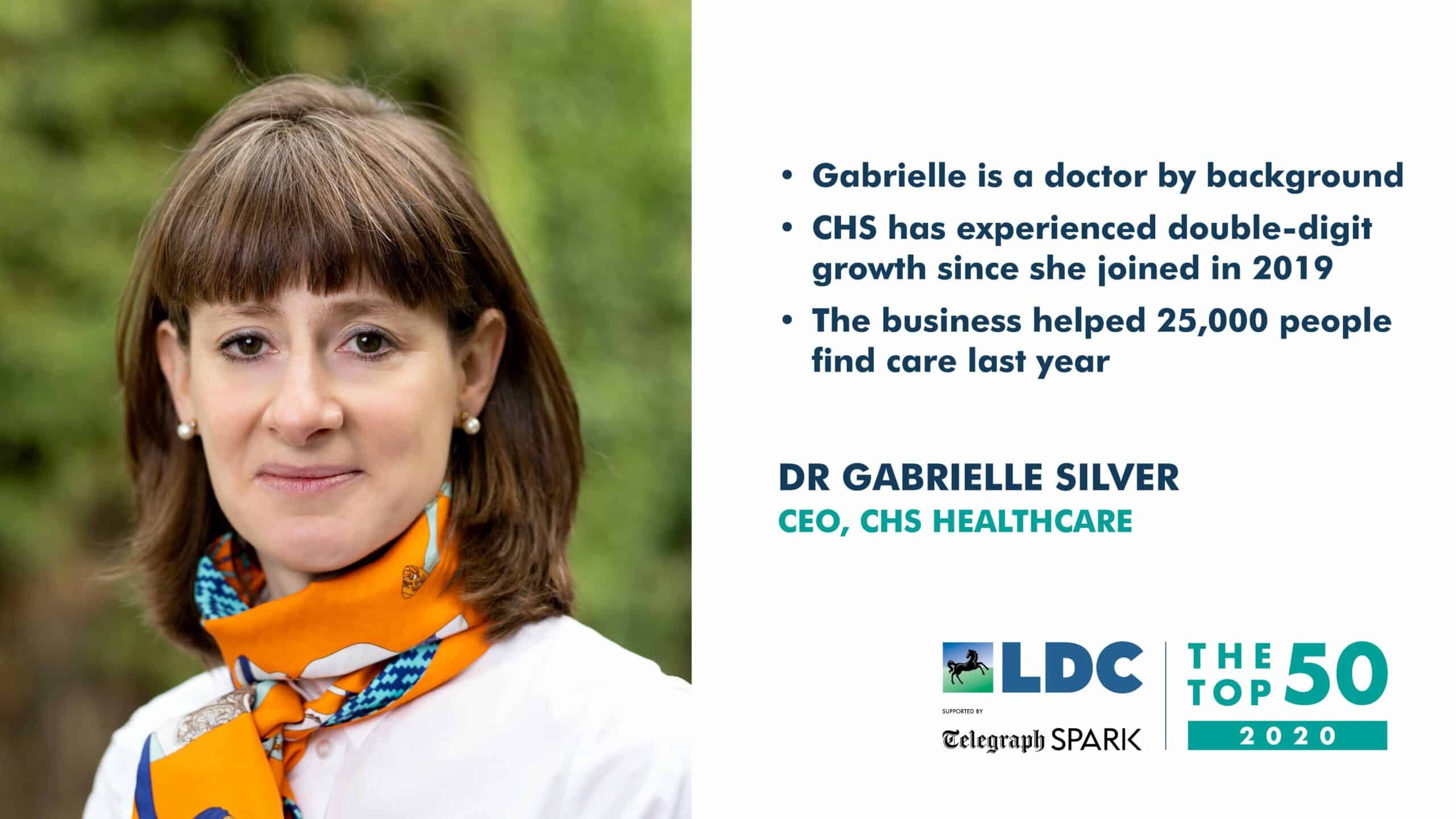 CEO Dr Gabrielle Silver named in LDC's Top 50 Most Ambitious Business Leaders for 2020