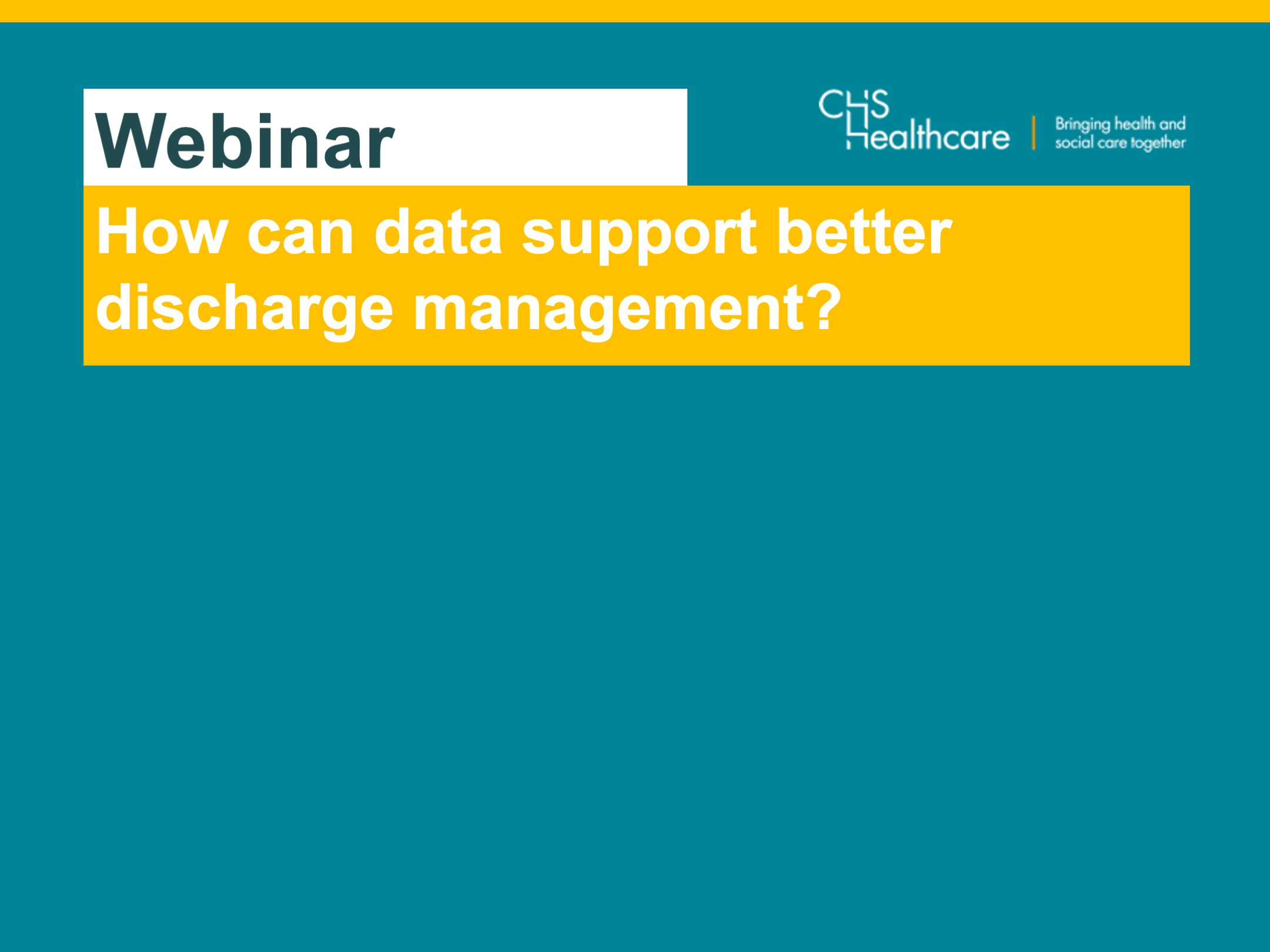 How data can support efficient discharge management